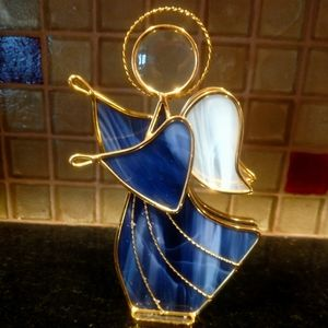 Stained Glass Angel Figurine